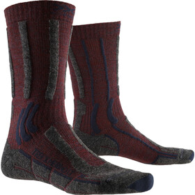 X-Socks Trek X Merino LT Calcetines, dark ruby/midnight blue